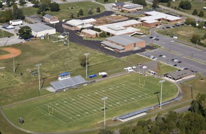 Football Stadium at Forrest High School